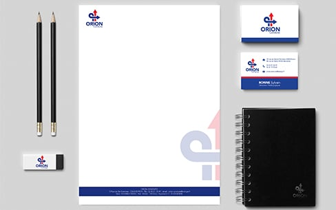 Branding Orion Conduite Logo Carte De Visite Papier En Tte